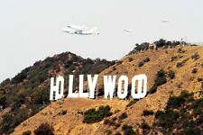 Historical Final Shuttle ENDEAVOUR last fly over HOLLYWOOD SIGN 5 X 7 PHOTO