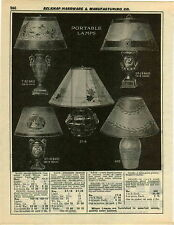 1932 PAPER AD Table Lamp Blois Dresden Fancy Ornate Vase Shape Urn