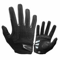 RockBros Touch Screen Cycling Gloves GEL Pad Long Full Finger Gloves Black Gray
