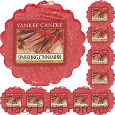 10 Yankee Candle Wax Tartas espumoso Canela Navidad Navidad Invierno se derrite