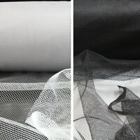1 METRE SOFT NETTING MATERIAL MESH BLACK WHITE FASCINATORS DRESSMAKING LACE DIY