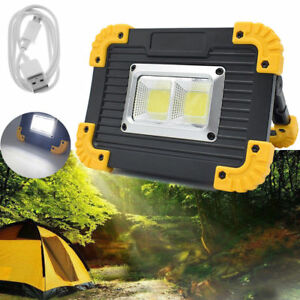 USB Rechargeable LED COB Work Light Camping Security Floodlight Emergency Lamp