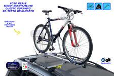Portabici auto da tetto porta bicicletta bici universale omologato acciaio barre