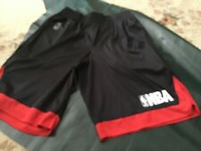 NBA National Basketball Association Logo Shorts Mens Size Small BLACK & RED