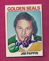 RARE GOLDEN SEALS JIM PAPPIN  AUTOGRAPH CARD (INV# 7779)