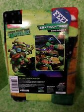 "Teenage Mutant Ninja Turtles Silk Touch Throw Blanket  40"" X 50"" New"