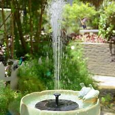 Outdoor Solar Powered Floating Water Fountain Pump Bird Bath Garden Pond Pool US