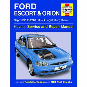 Ford Escort Orion  Haynes Manual 1990-00  1.8 Diesel Workshop Manual