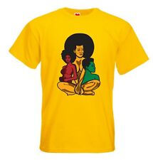 Afro womens T-shirt (Natural Hair style) Yellow