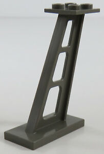 LEGO - Stütze / Pfeiler /Support 2 x 4 x 5 geneigt (2 Stück), dunkelgrau # 4476b