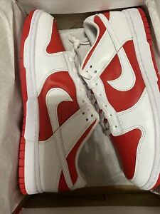 Nike Dunk Low Championship Red (2021) - Size 8.5  - Fast Free Shipping