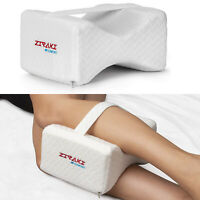 Memory Foam Knee Pillow Leg Cushion Orthopedic For Back Pain Sciatica Relief