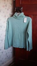 CasualComfort ladies roll neck jumper, size16/18, green-blue color,new with tag