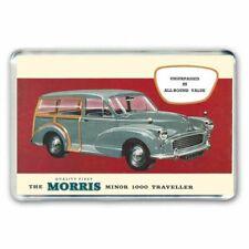 RETRO CARS - THE MORRIS MINOR 1000 TRAVELLER CAR JUMBO FRIDGE / LOCKER MAGNET