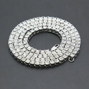 3 Prong Lab Rhinestone 1 Row Tennis Necklace Bling 4mm Chain/Bracelet Pendants