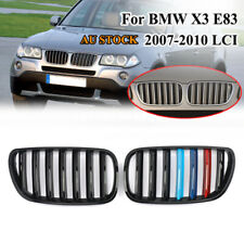 M-Color Shiny Black Front Grill Grille For BMW E83 X3 2007-2010 Facelift LCI ABS