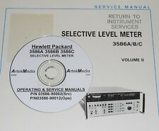 Hp Ops Amp Service Manual 3 Vol Set For 3586a 3586b 3586c Selective Level Meter