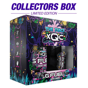 G Fuel ~ XQC The Juice Backed Out Collectors Box UK Seller GFUEL Energy PREORDER