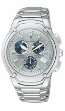 Calender Blue Grey Sub Dial Me Citizen Eco-drive Modena Chronograph Ii Perpetual