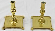 Pair of Candlesticks VIRGINIA METALCRAFTERS WILLIAMSBURG Brass CW16-5 & Antique