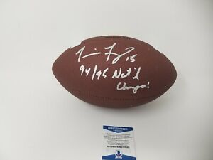 Tommie Frazier  Nebraska Cornhuskers  Autographed Signed NCAA Football INSCRIBED
