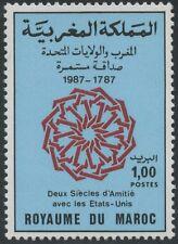 MAROC N°1033** EMISSION CONJOINTE ETATS UNIS  / MOROCCO 1987  MNH