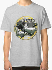 Triumph Trophy Classic Motorcycle engine Vintage T Shirt INISHED Productions