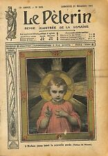 Portrait Enfant Jesus Christ Bénit la Nouvelle Année de Munier 1911 ILLUSTRATION