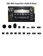 2001-2003 Toyota Rav4 Radio