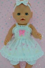 """Play n Wear Doll Clothes For 17"""" Baby Born MULTI COLOUR DRESS~BLOOMERS~HEADBAND"""
