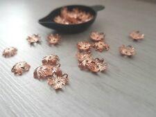 10mm Genuine Copper Filigree Bead Caps | 20 Pcs