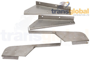 Front & Rear Stainless Steel Mudflap Brackets for Land Rover Defender 110 130