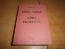 code rural, code forestier, Dalloz 1978 (99)