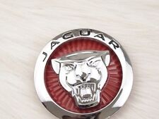 JAGUAR RED LARGE GROWLER FRONT BONNET HOOD GRILLE EMBLEM BADGE ROUNDEL 85MM