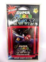 """Blister 8 paquets de 5 stickers """" 40 autocollants """" Mario GALAXY 2010 NINTENDO"""