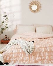 URBAN OUTFITTERS PLUM & BOW PINK WATERFALL RUFFLE DUVET COVER QUEEN / FULL