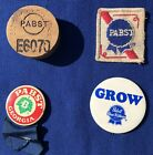 Vintage Lot of 4 Pabst Blue Ribbon: 2 Pins, 1 Patch, 1 Pabst Plug E6070 GA 31069
