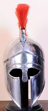 Medieval Greek Corinthian Helmet with red Plume- Spartan Costume Armour