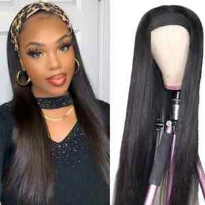 Straight Headband Wig - 150% Density Brazilian Remy Human Hair