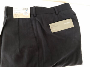 Louis Raphael Navy Blue Mens Pants Tailored Waist 40 Inseam 32