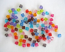 300 Bicone Faceted Acrylic Beads 8mm in Assorted Colours.