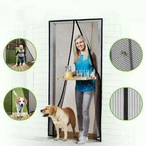 Magnetic Door Net Hands-Free Mosquito Screen Mesh Anti Bugs Fly Insect Curtain