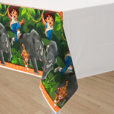 GO DIEGO GO Biggest Rescue PLASTIC TABLE COVER ~ Birthday Party Supplies Cloth