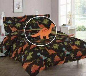 Kids Twin / Full Comforter Bedroom Sheet Set Boy & Girls Unicorn Dinosaurs Teens