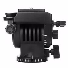 "Tripod Action Fluid Drag Head Video Camera w/1/4""Screw Quick Release Plate"
