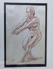 Henry Glintenkamp (1887-1946) Ink Drawing Standing Female Nude