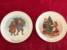 Avon Christmas Memories 1981 and 1982 Collectible Plates - Brand New, Never Used