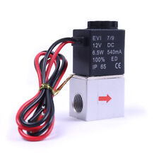 12V DC G1/4 Normally Closed Fast Response Electric Air Water Solenoid Valve