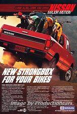 1985 Nissan Long Bed Pickup Truck Original Advertisement Print Art Car Ad J677