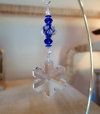 =^..^= Snowflake Ornament made with 35mm Swarovski Crystal #8811/6704 LOGO 15A